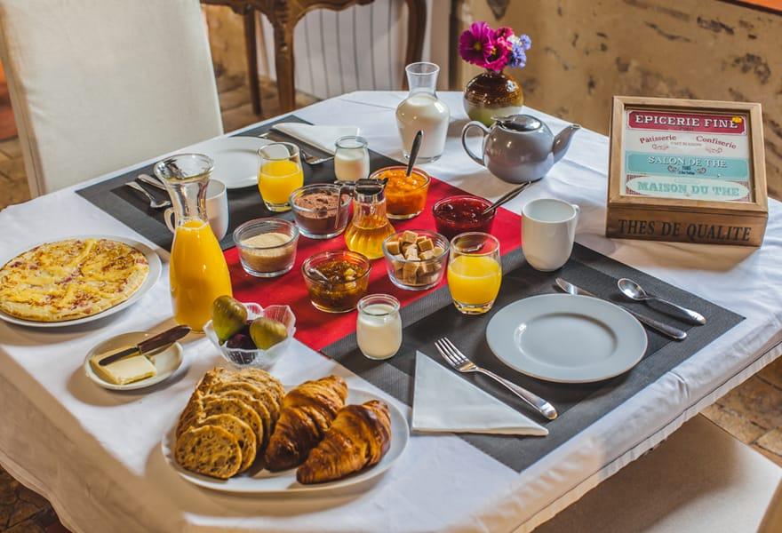 Petit déjeuner, table d'hôte Le Petit Nancay